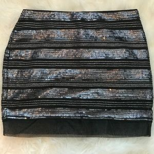 Sequin Mini Skirt by  Express